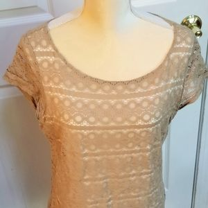 Lace lined sleeveless blouse, size 14